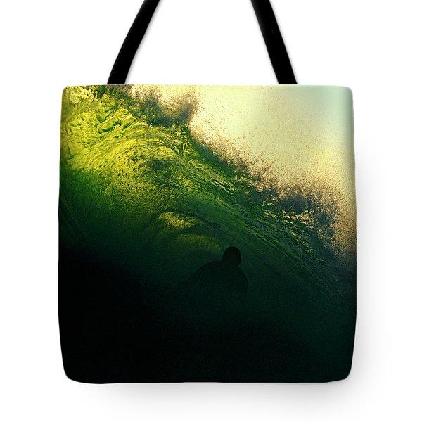 Green And Black Tote Bag