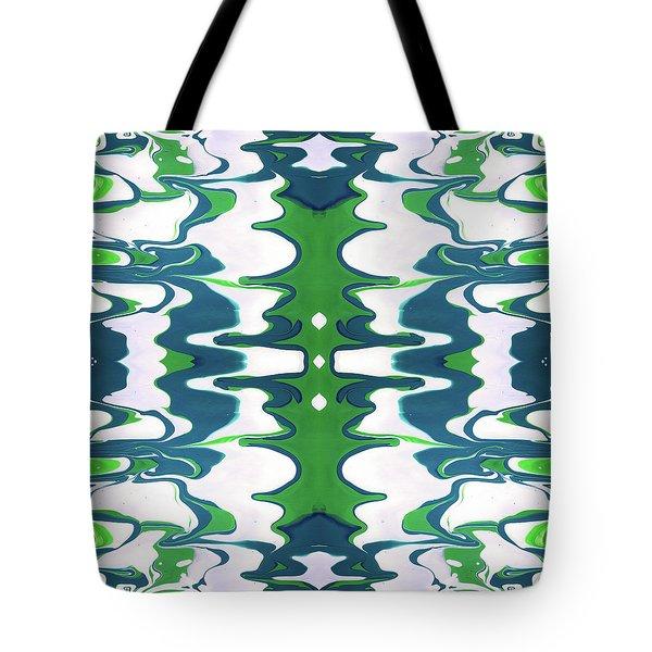 Green And Blue Swirl- Art By Linda Woods Tote Bag