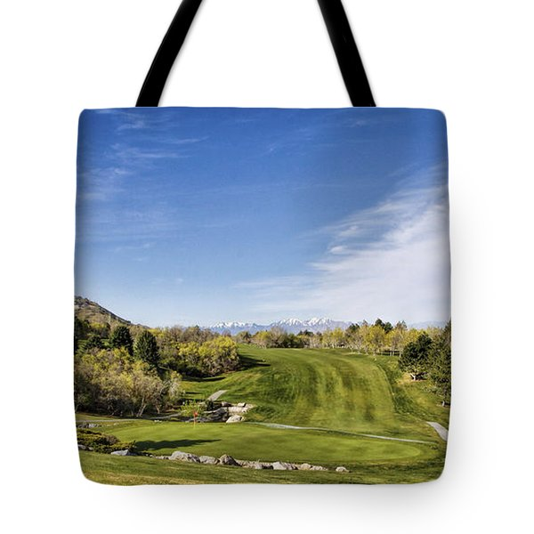 Green And Fairway Tote Bag
