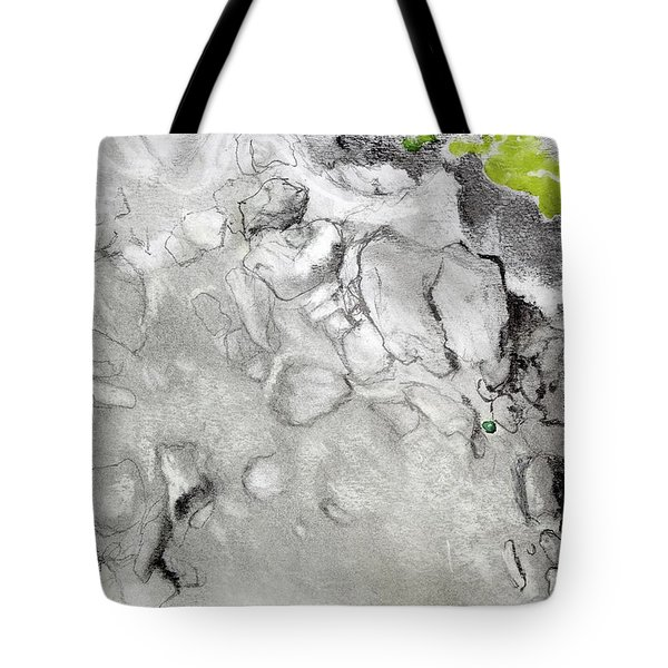Green And Gray Stones Tote Bag