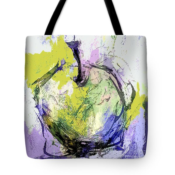 Green And Purple Apple Tote Bag