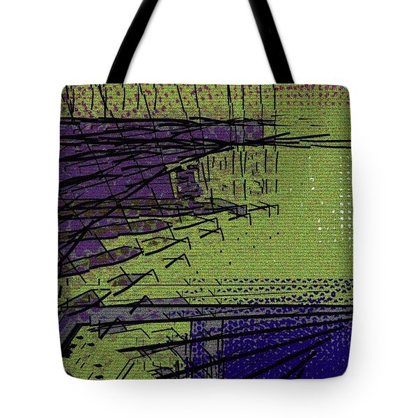 Green And Purple Field Tote Bag