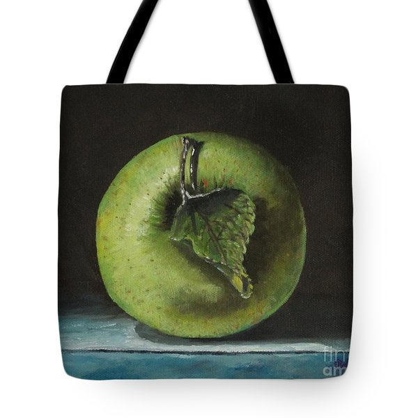 Green And Yellow Apple Tote Bag