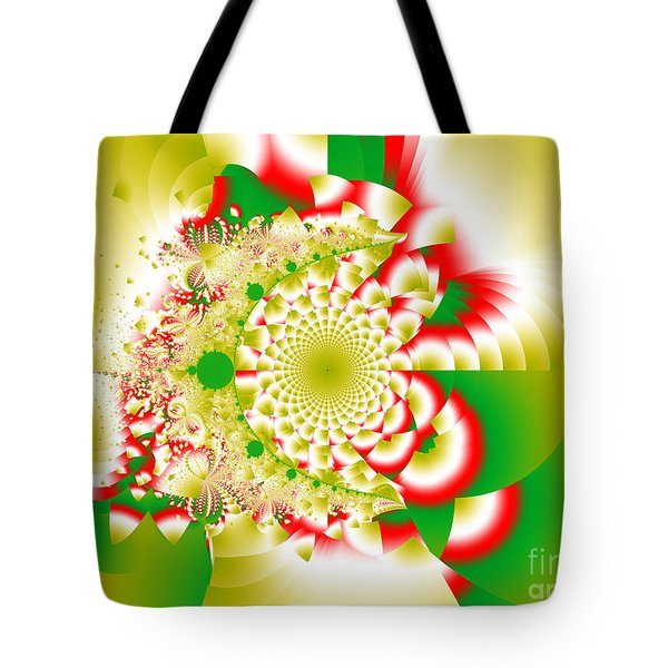 Green And Yellow Collide Tote Bag