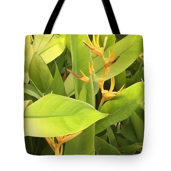 Tote Bag featuring the photograph Green  And Yellow Joy by Cindy Charles Ouellette