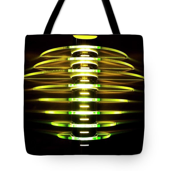 Green And Yellow Light Reflectors Tote Bag