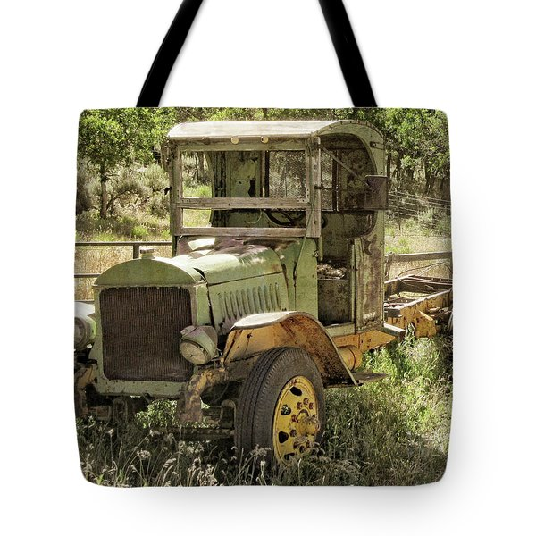 Green Antique Mack Tote Bag