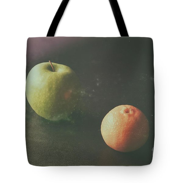 Green Apple And Tangerine Tote Bag
