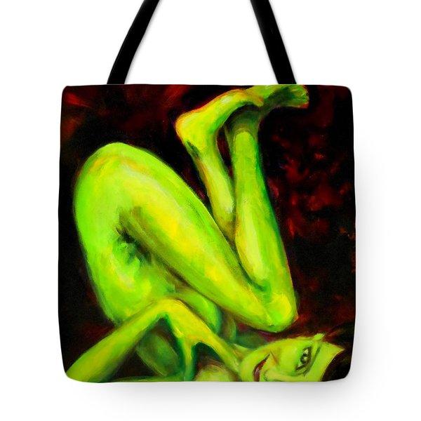Green Apple Turnover Tote Bag