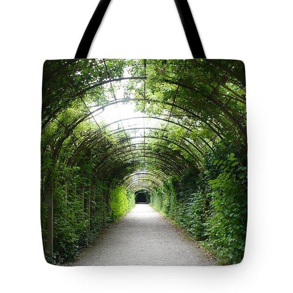 Green Arbor Of Mirabell Garden Tote Bag by Carol Groenen