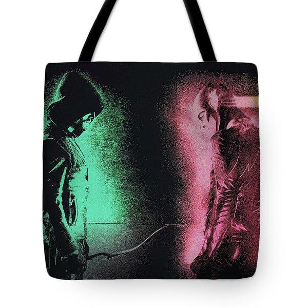 Green Arrow And Flash Tote Bag