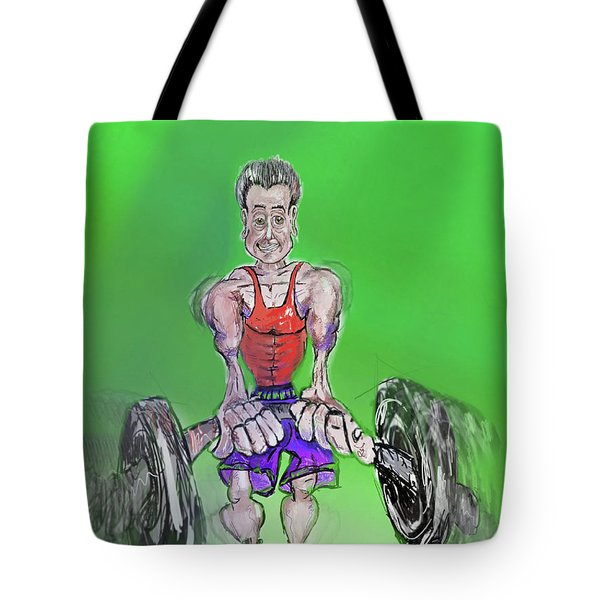 Green At Work Out West Tote Bag