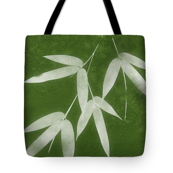Green Bamboo 1-art By Linda Woods Tote Bag