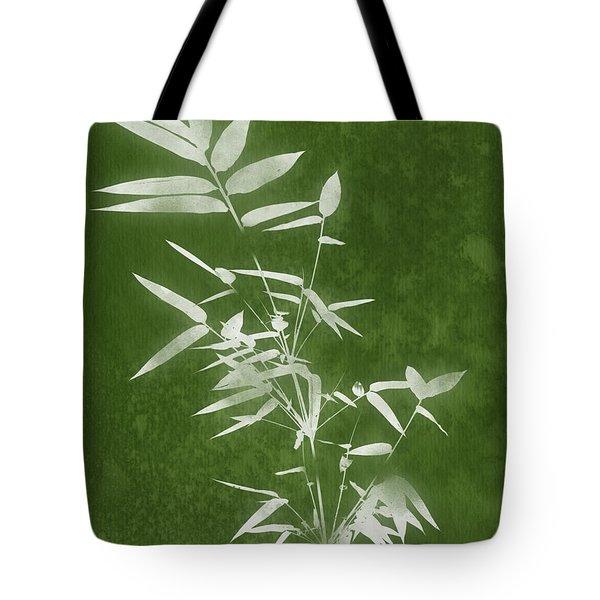 Green Bamboo 3- Art By Linda Woods Tote Bag