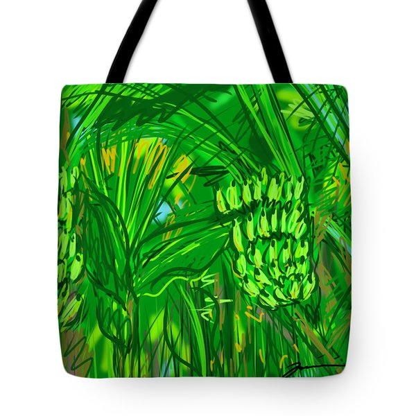 Green Bananas Tote Bag by Jean Pacheco Ravinski