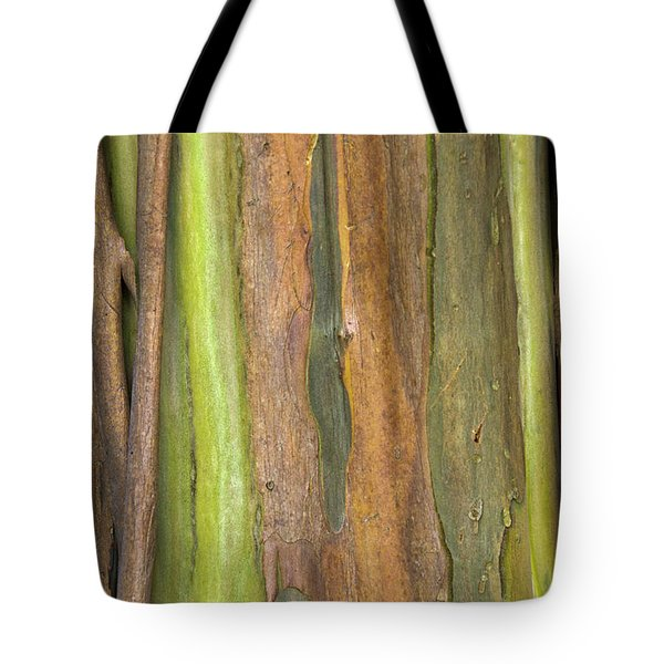 Tote Bag featuring the photograph Green Bark 3 by Werner Padarin