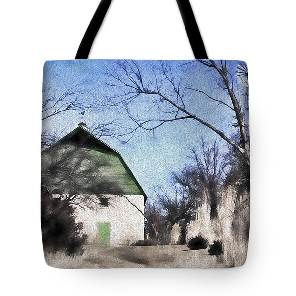 Green Barn Tote Bag