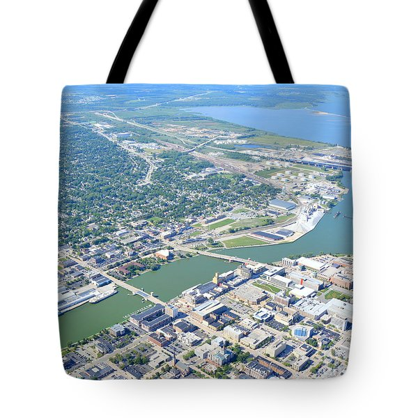 Tote Bag featuring the photograph Green Bay Downtown by Bill Lang