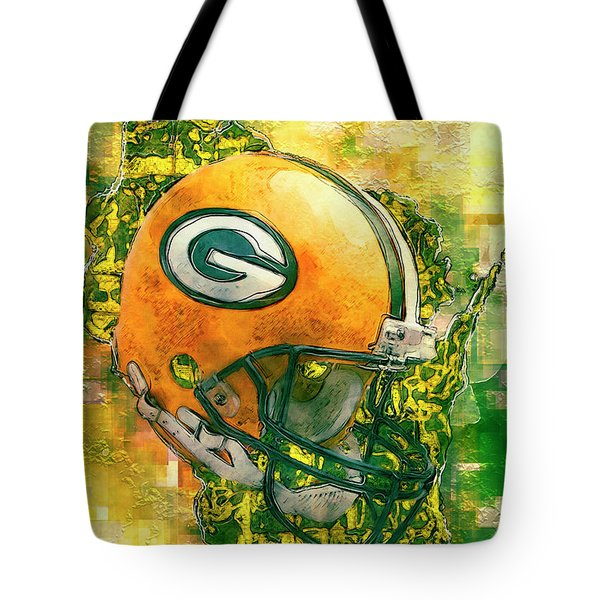 Green Bay Packers Tote Bag by Jack Zulli