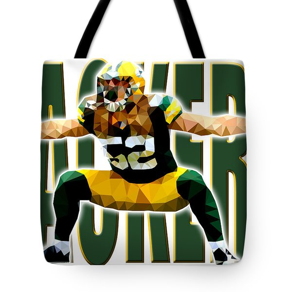 Tote Bag featuring the digital art Green Bay Packers by Stephen Younts