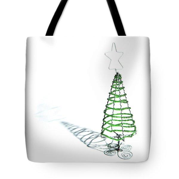 Green Bead Christmas Tree II Tote Bag