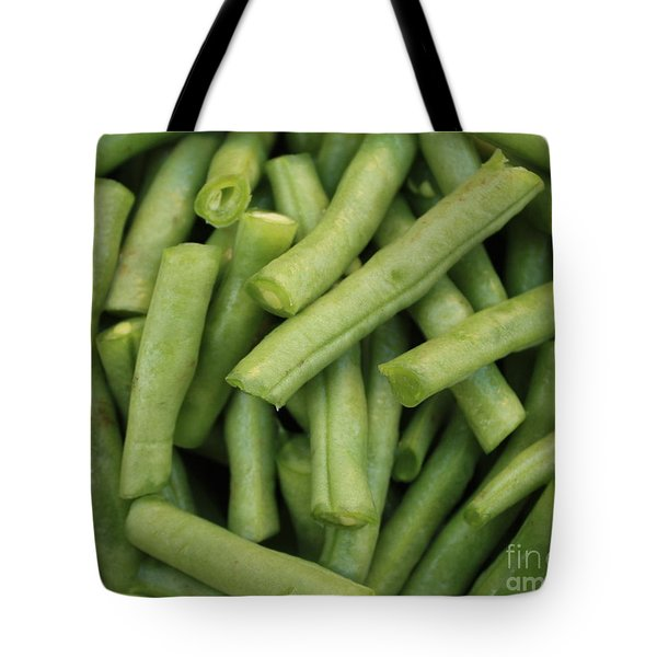 Green Beans Close-up Tote Bag by Carol Groenen