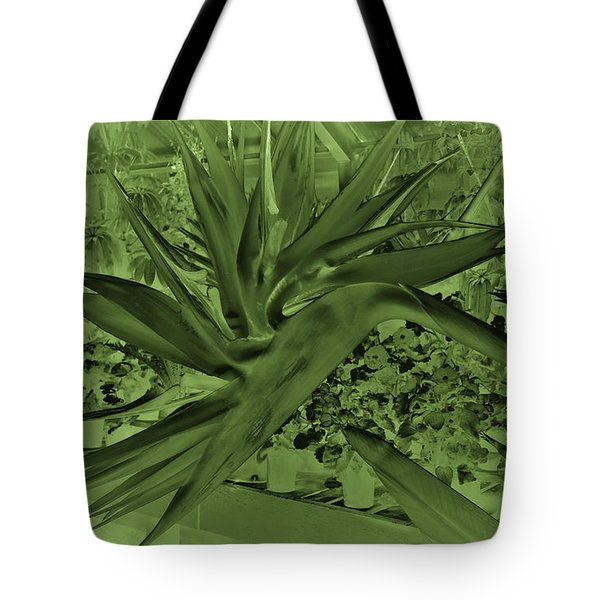 Tote Bag featuring the photograph Green Bird Of Paradise by Nareeta Martin