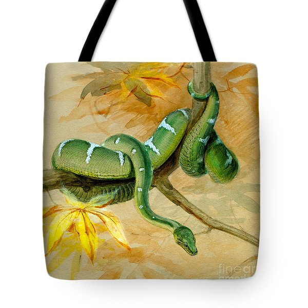 Green Boa Tote Bag
