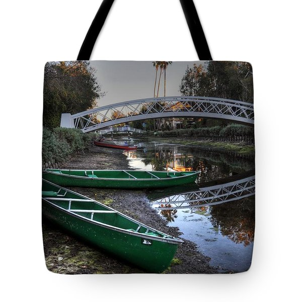 Green Boats Tote Bag
