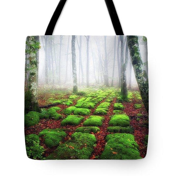 Green Brick Road Tote Bag