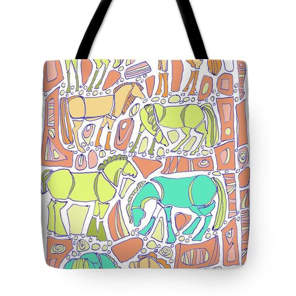 Green Broke Tote Bag by Linda Kay Thomas