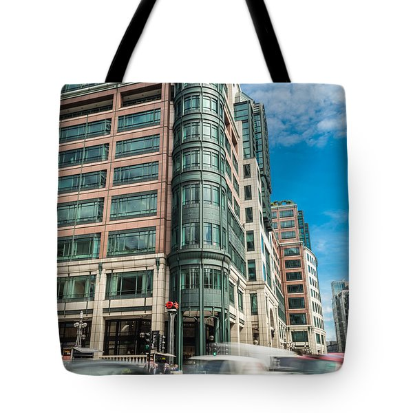 Green Building On Liverpool Metro Station London Tote Bag