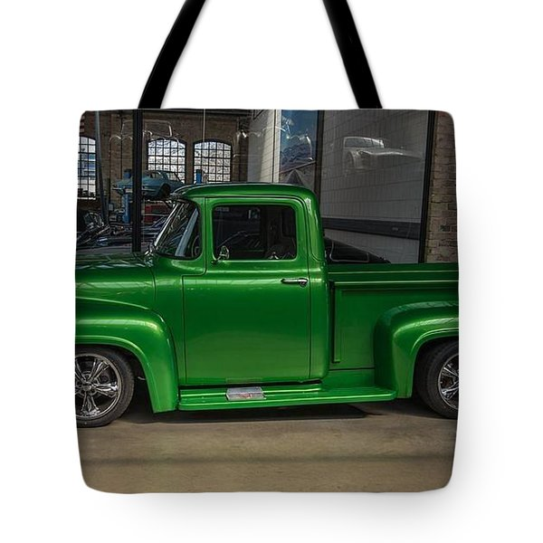 Green Car Tote Bag