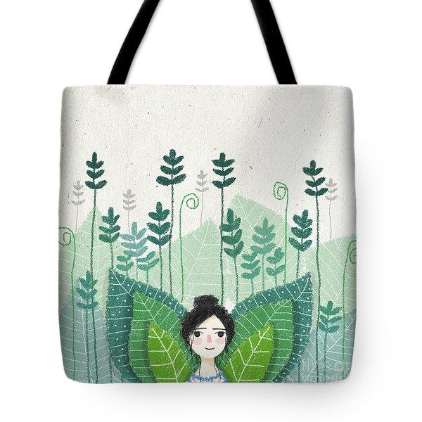Green Tote Bag by Carolina Parada