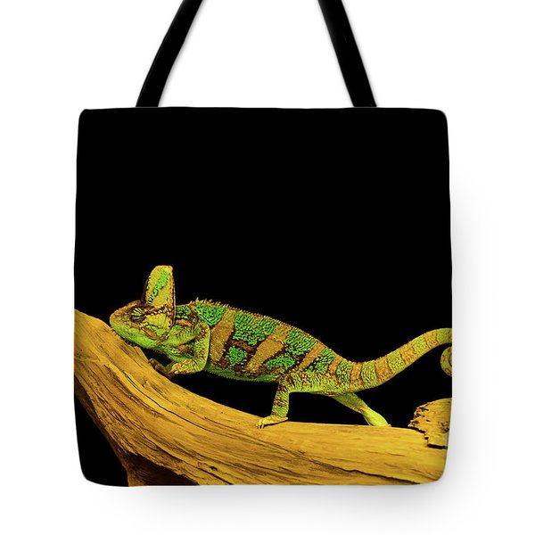 Green Chameleon Tote Bag