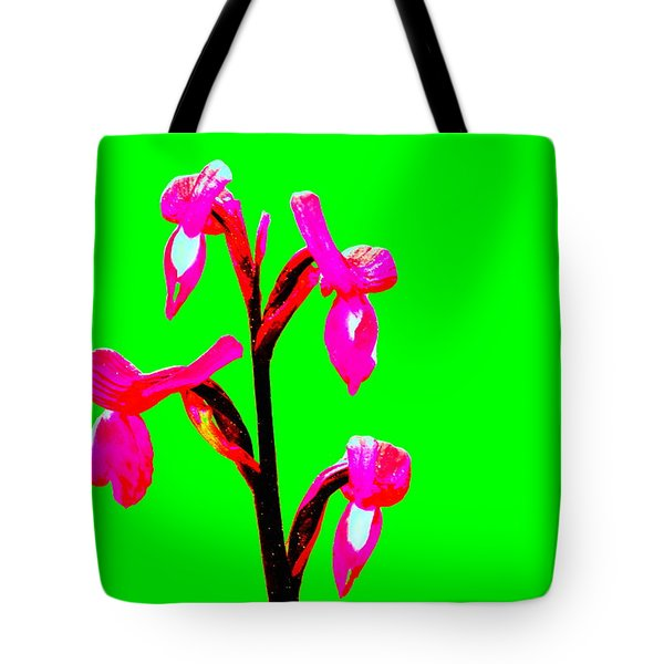 Green Champagne Orchid Tote Bag