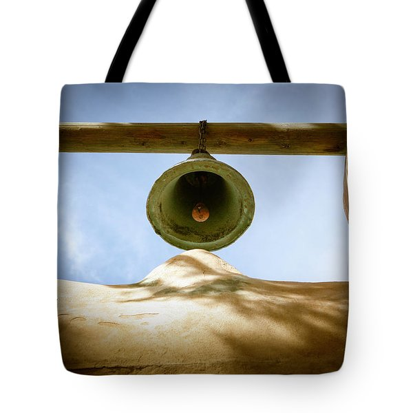 Tote Bag featuring the photograph Green Church Bell by Marilyn Hunt