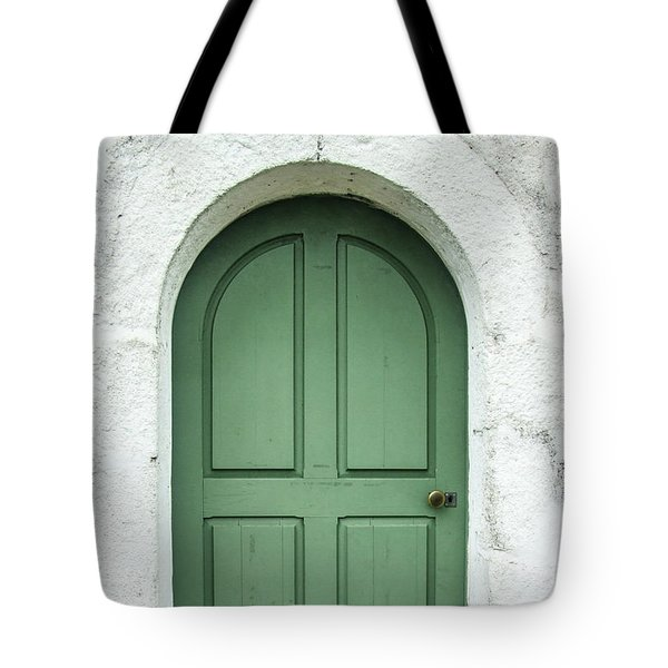 Green Church Door Iv Tote Bag