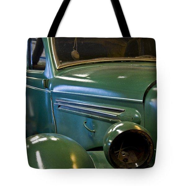 Green Classic Car Tote Bag