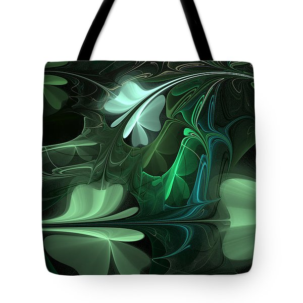 Green Clover Field Tote Bag
