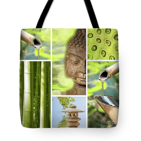 Green Collage Tote Bag