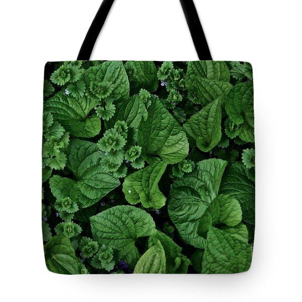 Green Crowd Tote Bag by Tim Good