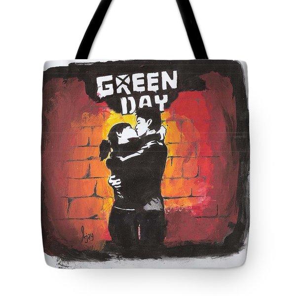 Green Day Tote Bag by Ajay Atroliya