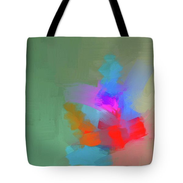 Tote Bag featuring the mixed media Green Day by Eduardo Tavares
