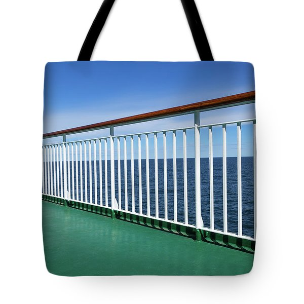 Green Deck Of A Passenger Ship Tote Bag