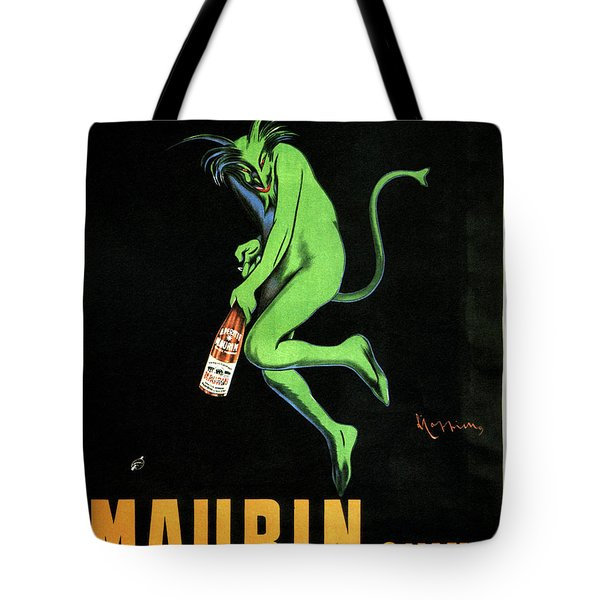 Green Devil - Liqueur Le Puy Maurin Quina - Quina Aperitif - Vintage French Advertising Poster Tote Bag