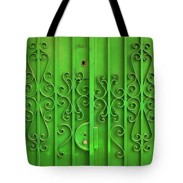 Tote Bag featuring the photograph Green Door by Carlos Caetano
