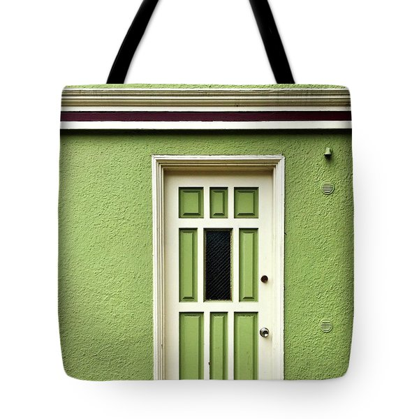 Green Door Detail Tote Bag by Julie Gebhardt