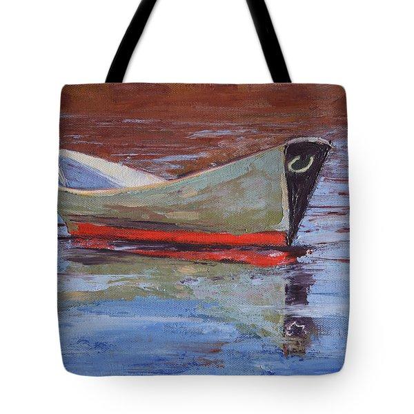 Green Dory Tote Bag by Trina Teele
