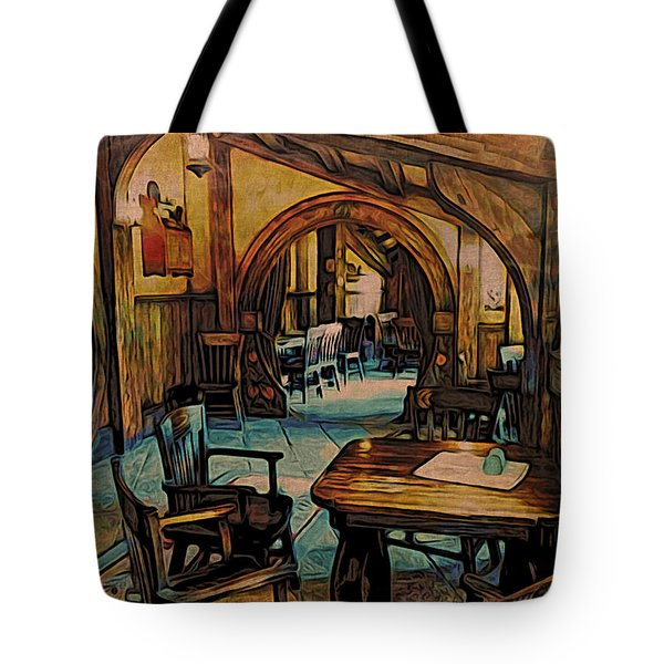 Green Dragon Writing Nook Tote Bag